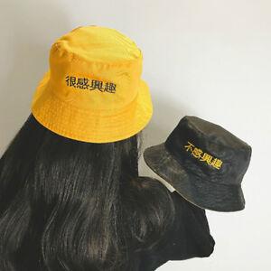 76d7699b3855b Two Side Bucket Hat Unisex Women Men Fashion Bob Caps Hip Hop Summer ...