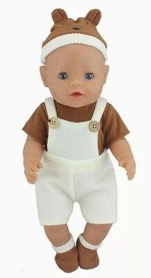 Kleid Outfit Puppenkleidung 43 Cm Neu Um Das KöRpergewicht Zu Reduzieren Und Das Leben Zu VerläNgern Baby Born/sister Pink/braun Zb