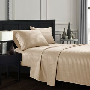 Soft-Egyptian-Comfort-Count-Striped-Deep-Pocket-4-Piece-Bed-Sheet-Set-All-Size