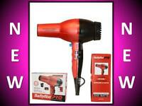 Babyliss Pro Super Turbo Professional Red 2000 Watt Hair Blow Dryer Bab307