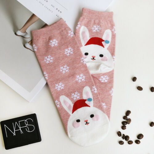 Lovely Christmas Santa Claus Fox Rabbit Penguin Socks Ladies Women Socks