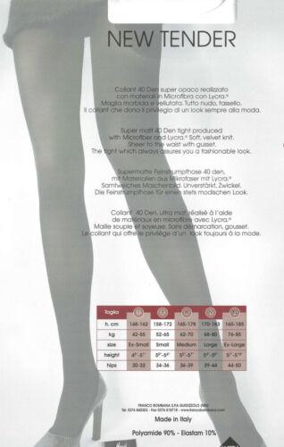 franco bombana Strumpfhose NEW TENDER  div Farben  TG 2 3 4 XL  40 DEN  NEU
