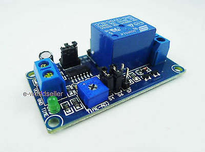 DC 12V delay turn on / delay off  relay timer module 0.1s to 1 hour
