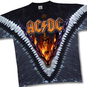 AC//DC-AC DC-ANGUS LIGHTNING-V TIE DYE TSHIRT M-L-XL-2X-3X-4X-5X-6X