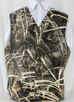 Realtree Max 4 Camo Wedding Formal Full Back With Adjuster Vest Max-4 Prom