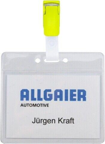 Ausweishüllen mit Clip Hosenträgerclip Kartenhalter mit Metallclip 10 Stk