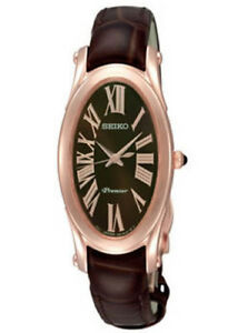 89657f010936 Image is loading Seiko-SXGN66-Premier-Ladies-Watch-Rose-Gold-Color