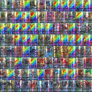 NO-REPEAT-100pcs-95-GX-5-MEGA-Cards-Pokemon-Card-Holo-Flash-Trading-GX-Cards-F