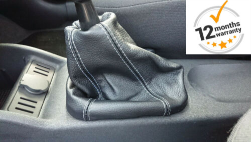 FITS VAUXHALL ASTRA G MK4 1998-05 SET GEAR GAITER REAL LEAHER BLACK STITCHING