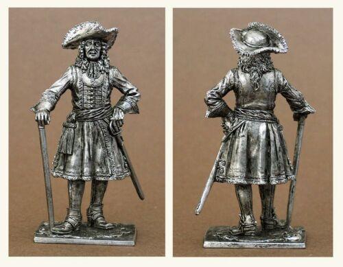 Hauptquartieroffizier des Preobraschenski-Regiments 54mm 1698-1700 Russland