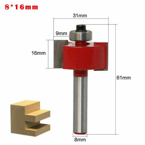 8mm Shank Straight T-Slot Router Bit Carpenter Trimming Cutting Milling Cutter