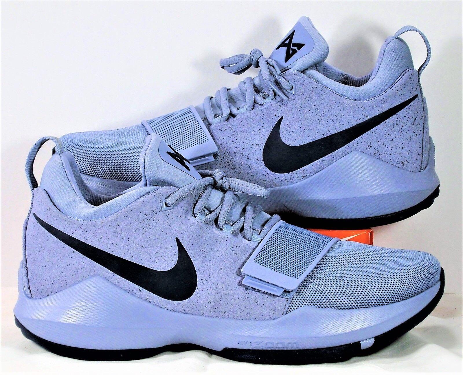 Nike Paul George PG 1 Grey & Midnight Navy Basketball shoes Sz 10 NEW 878627 044