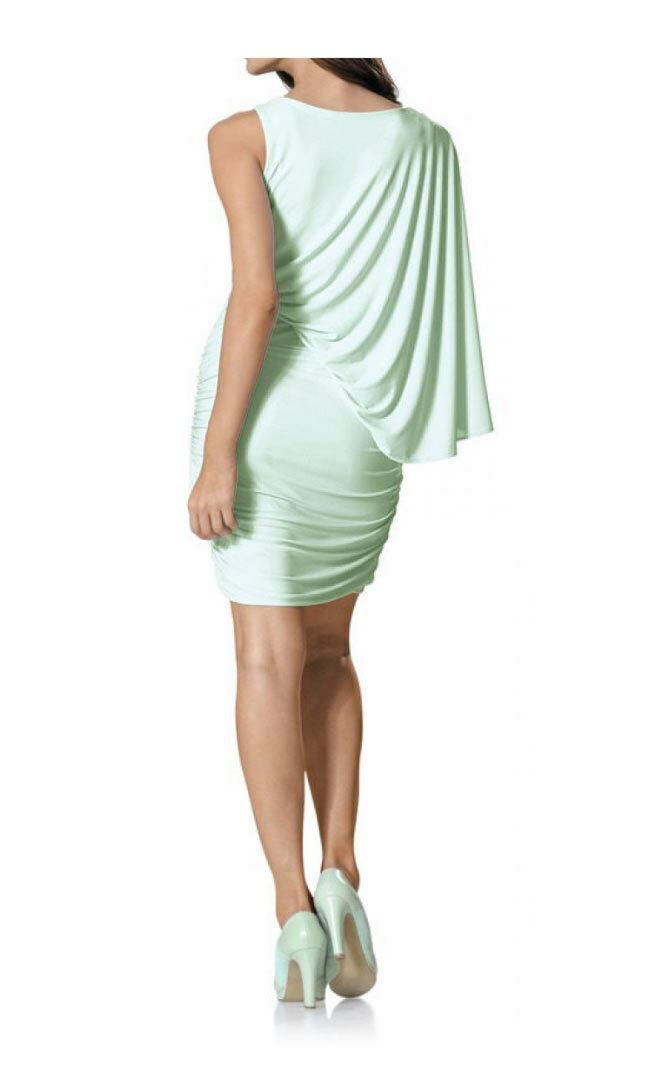 TCJ Patrizia Dini Dini Dini Sexy Kleid Designerkleid mint Raffungen Sommerkleid  42 44 46 | König der Quantität  | Fuxin  | Sonderkauf  c44edd