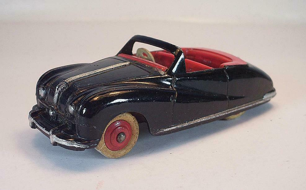 DINKY giocattoli N. 106 Austin ATLANTIC CABRIOLET NERoroSSO  6645
