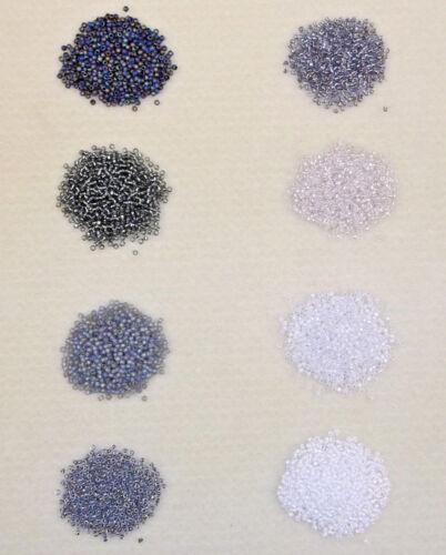 Taille 15//0 japonais perles-choisissez vos couleurs d/'à peine Noir /& hiver tons