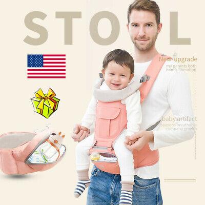 New Breathable Ergonomic Infant Baby Carrier Adjustable Wrap Sling Backpack US