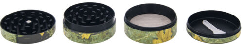 """1.9/"""" 4 Part UV Printing Tobacco Herb Spice Grinder Crusher Camouflage"""