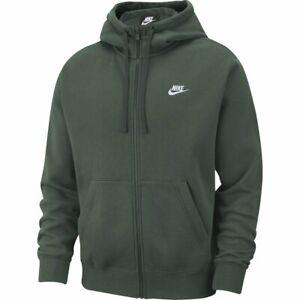 Detalles de Nike Sportswear Club Fleece Sudadera capucha Verde Hombre