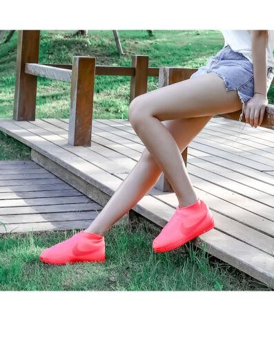 Outdoor Camping étanche à La Pluie Randonnée Antidérapant Réutilisable Silicone Plastique sur Chaussures