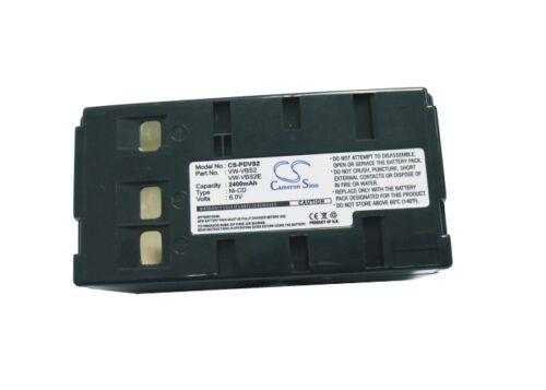 6.0 v Batería Para Panasonic Vw-vbs2 Nv-s20 Nv-3ccd1 Pv-l757 nv-rj46 Vw-vbs2e