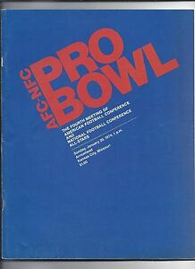 1974 NFL Pro Bowl Game Program NFC AFC All Sars