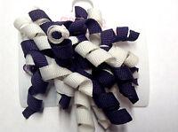 Gymboree Cherry Cute Line Barrettes Clips Curly Dark Purple/White Super Cute
