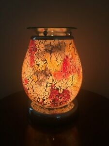 Minerva-Touch-Mosaic-Electric-Wax-Warmer-Burner-amp-pack-of-10-Scented-Melts-3136