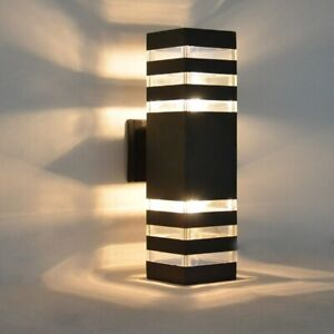 Modern-Up-Down-LED-Dual-Head-Sconce-Wall-Light-Waterproof-Exterior-Garden-Lamp