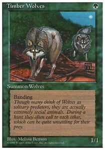 4 Timber Wolves = Green Revised 3rd Edition Mtg Magic Rare 4x x4