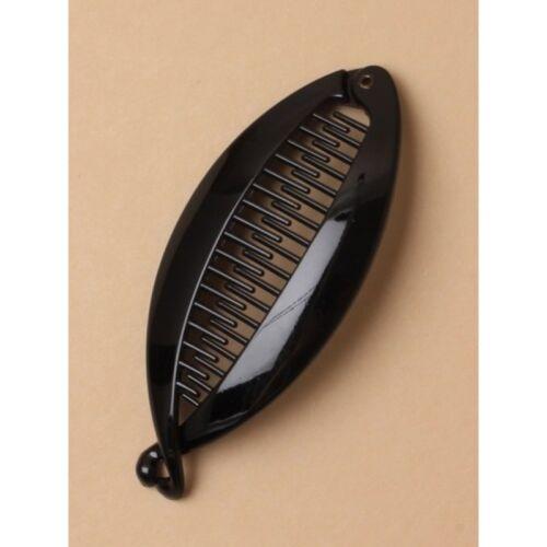 NEW 12cm Black banana fish clip womens hair accessory fashion