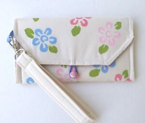 Cell phone Case Handpainted Wristlet