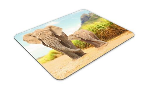 Animal Wild Africa Computer Gift #19182 Mother /& Baby Elephant Mouse Mat Pad