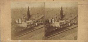 Pompei-Tombeau-Italia-Fotografia-Stereo-12-Vintage-Albumina-c1860