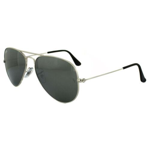 Grey 55mm Silver Ray da ban W3275 Aviator Occhiali Mirror Small 3025 sole w8OPg6q