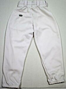 94444d4b4c Details about Rawlings Classic Fit Elastic Waist White Baseball Pant Boys,  Med, Free Shipping!