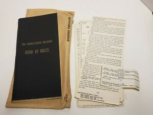 Vtg-1956-PRR-Pennsylvania-Railroad-Book-of-Rules-in-Envelope-with-Revisions