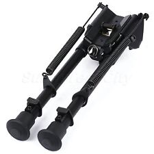 "Adjustable 9-15"" Rifle Sling Swivel Barrel Bipod Spring Return Sniper Shooting"