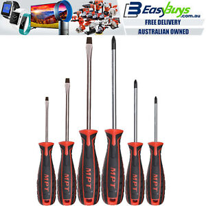 MPT-Screwdriver-Set-6pc-Industrial-Mechanic-CRV-Philips-Slotted-Screw-Driver-Kit