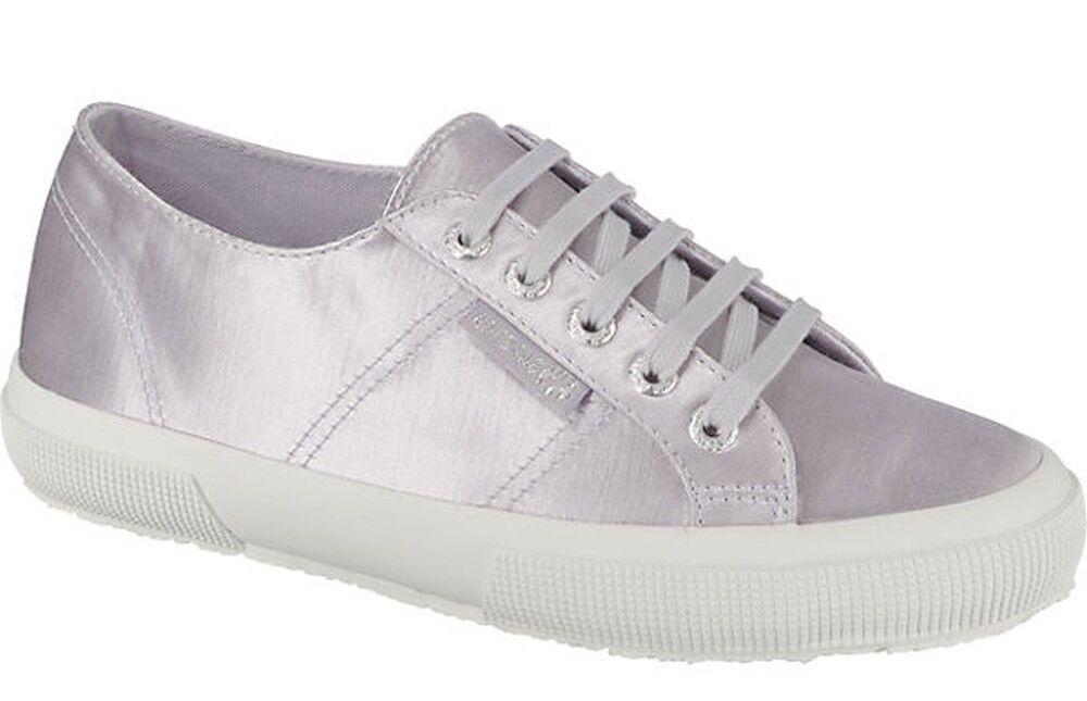 Superga Sneaker Silver 2750 Plus SATIN, Violet Silver Sneaker 7281c2