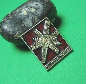 USSR-Vintage-Soviet-Russian-Space-pin-badge-Satellite-Lightning