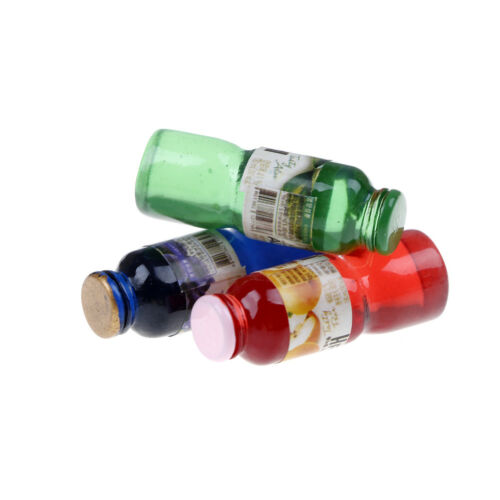 5pcs 1:12 scale miniature dollhouse drink bottle mini food play kid kitchen /_A