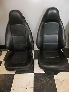 Bmw Z3 Seats Leather Seat Set Black Ebay