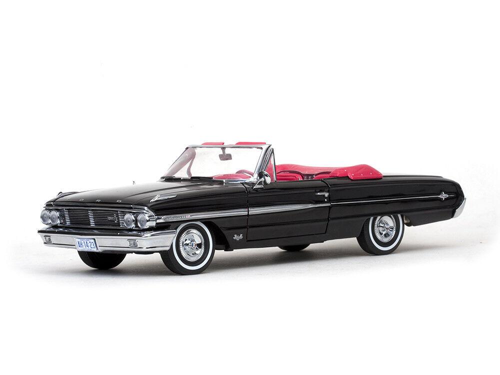 Ford 1964 GALAXIE XL open convertible en Noir par SUNSTAR 1.18 Scale Die Cast