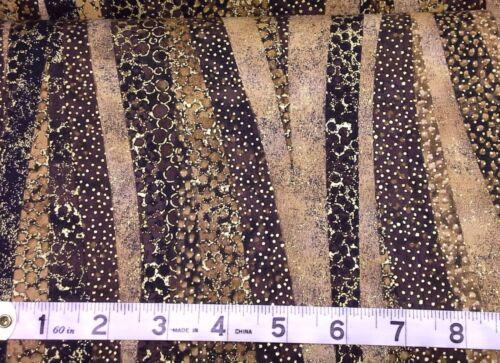 Brown Shimmer Quilt Tissu Artisan esprit Brillant 20425 M fat quarters