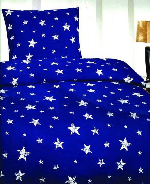 4 Tlg Bettwäsche Microfaser Mikrofaser Bettbezug 135x200 Öko Tex Garnitur Sterne
