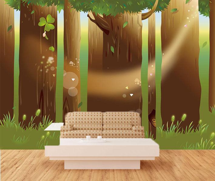 3D Naturwald Modell 4 Fototapeten Wandbild Fototapete Bild Tapete Familie Kinder
