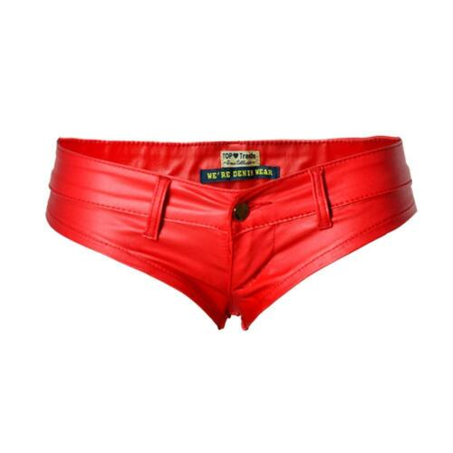 Womens Shiny Metallic Booty Shorts Wet Look Hot Pants Dance Disco Clubwear Fast