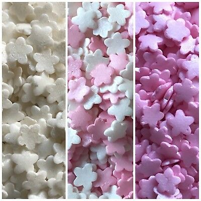 Mini White Glimmer Hearts 25g Cupcake Decoration sugar Sprinkles mixed