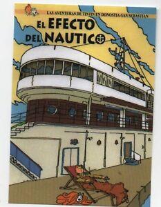 PASTICHE-Carte-postale-Tintin-EL-EFECTO-DEL-NAUTICO-Hors-Commerce-2016