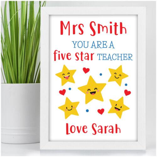 Regalos Personalizados Estampado de Estrellas profesor-al final del período regalos para profesor asistente